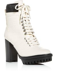 Vince Camuto Ermania Platform Lace-up Bootie - White