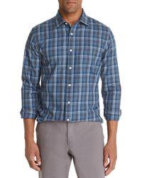 Bloomingdale's Plaid Classic Fit Shirt - Blue