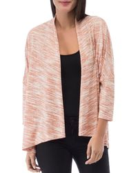 B Collection By Bobeau Luann Space - Dyed Open - Front Cardigan - Pink