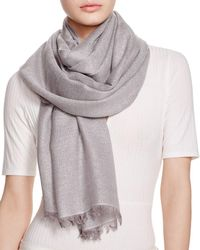 Aqua Solid Metallic Scarf - Grey