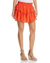Karina Grimaldi - Habi Tiered Printed Mini Skirt - Lyst