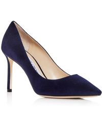 Jimmy Choo Anouk Suede Court Shoes - Blue