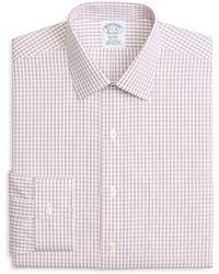 Brooks Brothers - Regent Fitted Non-iron Windowpane Dress Shirt - Lyst