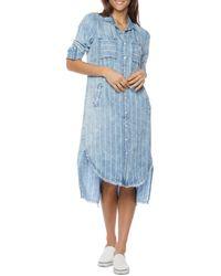Billy T Two Way Shirt Dress - Blue