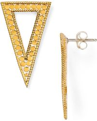 Anna Beck - Triangle Drop Earrings - Lyst