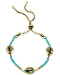 Argento Vivo Seychelle Beaded Simulated - Shell Bracelet - Blue