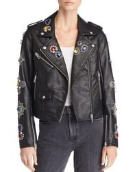 Blank NYC - Embellished Faux Leather Moto Jacket - Lyst