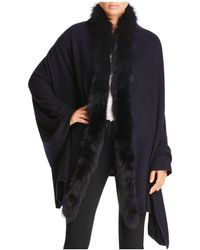 Magaschoni - Fox Fur Trim Shawl - Lyst