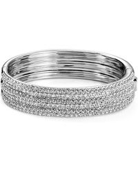 Nadri - Pavé Bangle - Lyst