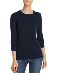 C By Bloomingdale's Crewneck Cashmere Sweater - Blue