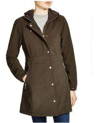 DKNY - Lightweight Hooded Coat - Lyst
