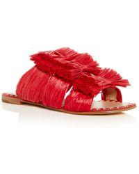 Pour La Victoire - Layne Raffia Slide Sandals - Lyst