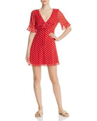 Finders Keepers Blossom Floral Mini Dress - Red