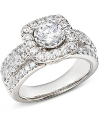 Bloomingdale's Diamond Halo Engagement Ring In 14k White Gold