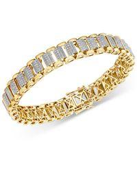 Bloomingdale's Pave Diamond Link Bracelet In 14k Yellow Gold - Metallic
