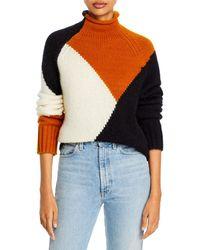 A.L.C. Claremont Color Blocked Boxy Sweater - Multicolor