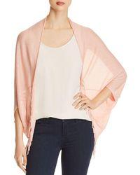 Aqua Cocoon Poncho - Pink
