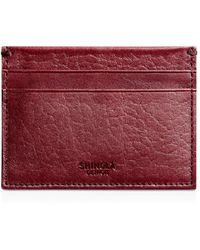 Shinola 5 Pocket Card Case - Red