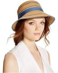 August Accessories - Stripes Abound Cloche - Lyst