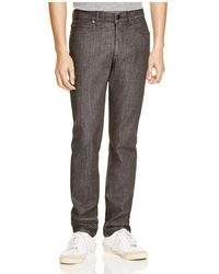 Z Zegna - Black Denim Slim Fit Stretch Jeans - Lyst
