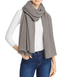 C By Bloomingdale's Cashmere Travel Wrap - Grey