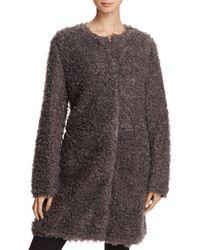 Via Spiga - Reversible Lightweight Faux Fur Coat - Lyst