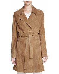 Basler - Suede Trench Coat - Lyst