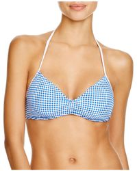 Ralph Lauren - Polo Seersucker Gingham Halter Bikini Top - Lyst