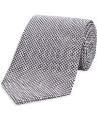 Turnbull & Asser Basic Houndstooth Classic Tie - Black