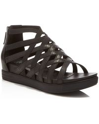 Eileen Fisher - Airy Caged Open Toe Platform Wedge Sandals - Lyst