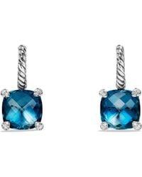 David Yurman - Châtelaine Drop Earrings With Hampton Blue Topaz And Diamonds - Lyst