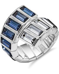Atelier Swarovski Core Collection Fluid Azzurro Wrap Ring - Metallic