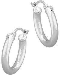 Bloomingdale's Small Hoop Earrings In 14k White Gold