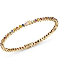Shebee - 14k Yellow Gold Multicolor Sapphire Infinity Bangle Bracelet - Lyst
