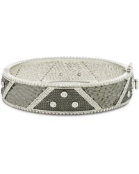 Freida Rothman - Wide Bezel Bangle - Lyst