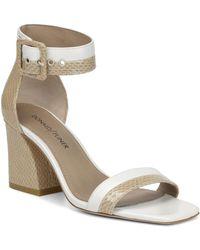 Donald J Pliner - Women's Watson Color-block Leather Block Heel Sandals - Lyst
