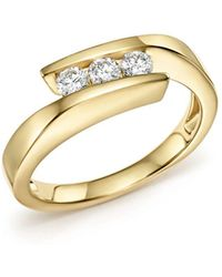Bloomingdale's Diamond Three Stone Band In 14k Yellow Gold - Multicolour