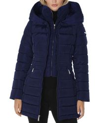 Laundry by Shelli Segal Zip - Front Puffer Coat - Blue