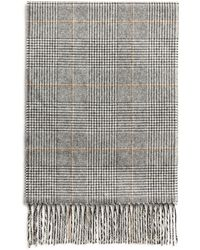 Bloomingdale's - Glen Plaid Cashmere Scarf - Lyst