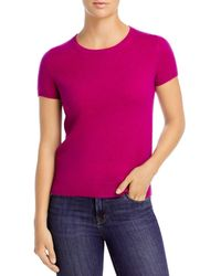 C By Bloomingdale's Short - Sleeve Cashmere Sweater - Multicolour
