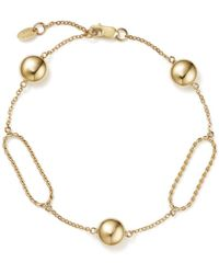 bb98baad0 Bloomingdale's Oval Twist Link Bracelet With Beads In 14k Yellow Gold