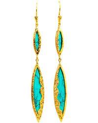 Melinda Maria - Sassy Turquoise Marquis Earrings - Lyst