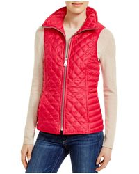 Marc New York Ellis Quilted Puffer Vest - Red