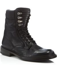 Rag & Bone Spencer Leather Military Boot - Black