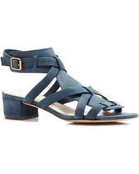 Delman - Moxie Block Heel Sandals - Lyst