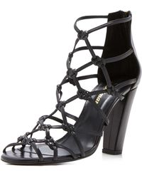 Delman - Scandal Knotted High Heel Sandals - Lyst