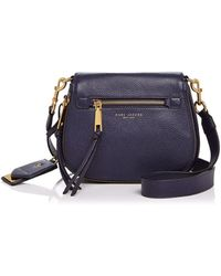 Marc Jacobs Recruit Small Nomad Leather Saddle Bag - Blue
