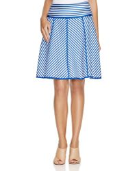 Finity - Striped A-line Skirt - Lyst
