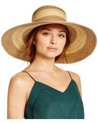 Bettina Two-tone Floppy Hat - Yellow