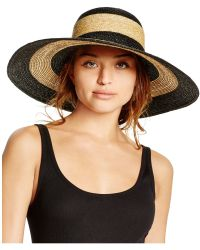 Bettina Two-tone Floppy Hat - Natural